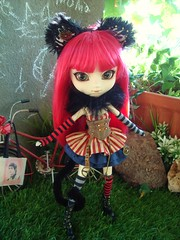 Alison - fake Cheshire Cat in Steampunk World (Lunalila1) Tags: doll groove junplaning handmade outfit cat neko pullip grell alison bendel steampunk cheshire fake