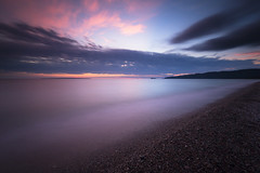 Hot and Cold (andrewpmorse) Tags: agawabay lakesuperiorprovincialpark ontario canada northernontario sunset water clouds pink hot cold beach lake parks longexposure canon 6d 1635f4l leefilters leebigstopper lee06ndgradhard