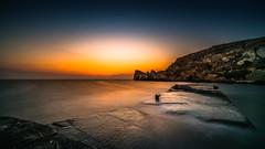 broken.way (K.H.Reichert) Tags: brokenpier malta sunset beach longexposure rocks rockycoast twilight popeyevillage sonnenuntergang