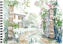 Montigné, les Groies (Croctoo) Tags: aquarelle watercolor croctoo croquis croctoofr poitou poitoucharentes campagne