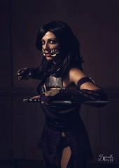 D&G cosplay as Mileena from Mortal Kombat X, by SpirosK photography (SpirosK photography) Tags: dgcosplay cosplay mortalkombat motralkombatx mkx game videogame videogamecharacter mileena composite portrait