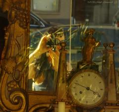 Natali Antonovich (Natali Antonovich) Tags: nataliantonovich parallels photographer reflection clock time mirror photographercamera lifestyle selfportrait familyarchive fromfamilyalbum sablon dezavel sweetbrussels brussels belgium belgique belgie portrait