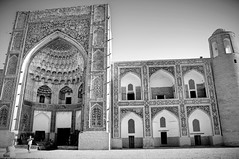 Abdulaziz Khan Madrassah (Xanics) Tags: abdulaziz khan madrassah uzbekistan bw