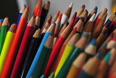Are You Blue? (BKHagar *Kim*) Tags: color art pencils al rainbow bright crowd alabama athens crowded areyoublue bkhagar