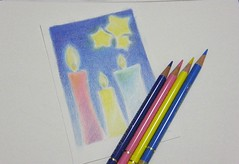 2012_10_11_candle_01 (blue_belta) Tags: blue sketch candle coloredpencil