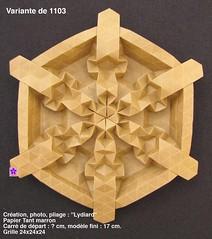 var1103 (LydiaDiard paperfolledingue) Tags: art geometric paper 3d origami hexagon lydia paperfolding volume volum tant lydiard gomtrique pliage hexagone paperfold diard lydiadiard paperfolledingue
