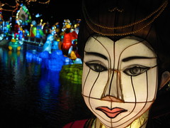 The Magic of Lanterns (Alex L'aventurier,) Tags: canada colors reflections lights montral montreal couleurs chinese reflet qubec lanterns chinois botanicgarden lumires lanternes jardinbotanique