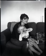 Anna and Lou (2) (Sibokk) Tags: camera portrait blackandwhite bw white black film portraits photography mono view graphic large 4x5 sheet format 100 monorail graflex 5x4 filmphotography fomapan foma100 believeinfilm