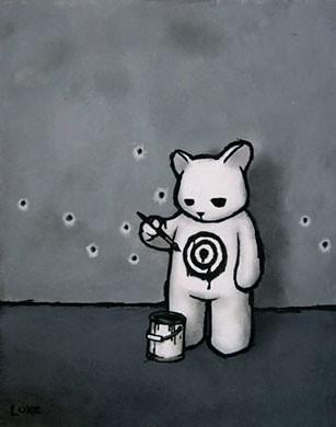 Luke Chueh X Munky King – 黑色標靶熊
