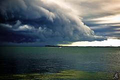 Don't look back!! (Alessandro Giorgi Art Photography) Tags: sea sky storm water look rain clouds boat back nikon barca nuvole mare escape getaway cielo non acqua pioggia tempesta tropica guardare tropicale don't indietro scappare d7000
