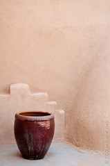 In the Corner (Jim Frazier) Tags: plaza old travel pink stilllife brown abstract newmexico southwest detail art heritage history texture wall architecture corner buildings ceramic religious catholic quiet peace fineart religion structures churches landmarks peaceful sunny august bluesky courtyard tourist architectural historic container holy pot negativespace study adobe shade sacred pottery historical taos nm spiritual contemplative minimalist stucco attraction romancatholic 2012 southwestern fragments houseofworship nationalregisterofhistoricplaces q5 nrhp contrasttexture ldoctober jimfraziercom ld2012 20120803westernroadtrip 20120810taoschurch wmembed ranchodetaosplaza contrastcontent