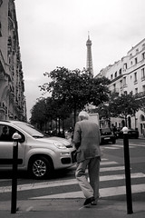 12 (Alex A Jones) Tags: city travel people urban blackandwhite paris france film 35mm kodak eiffeltower streetphotography gr1s ilford ricoh