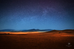 the star sky on the prairie! (jujusweetcat-XW) Tags: china autumn light sky night canon star golden galaxy prairie glassland