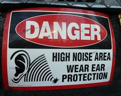 Danger: High Noise Area (silverfuture) Tags: sign danger warning high ear area noise wearearprotection