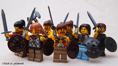 Caledonian warriors (Mark of Falworth) Tags: war lego roman battle sword soldiers warrior warriors minifigs custom troops barbarians