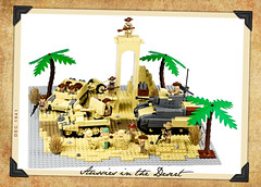 Aussies in the Desert (Florida Shoooter) Tags: desert lego northafrica australia ww2 dak aussies universalcarrier m3stuart 2pounderatgun