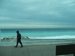 from the bus (Davide Brat) Tags: sea france bus weather nice cloudy bad walker nuvoloso