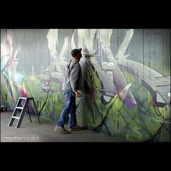#kak gives the paint a little helping hand to dry #bestkeptsecret #wallkandy #streetart #graffiti #bristol #art #thecollegeproject #painting (Photos  Ian Cox - Wallkandy.net) Tags: street streetart art canon bristol ian photography graffiti gallery bedminster document cox kak bestkeptsecret wallkandy thecollegeproject