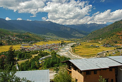 Paro Valley (LeftCoastKenny) Tags: mountains clouds bhutan valley rivers paro parochhu dochuu