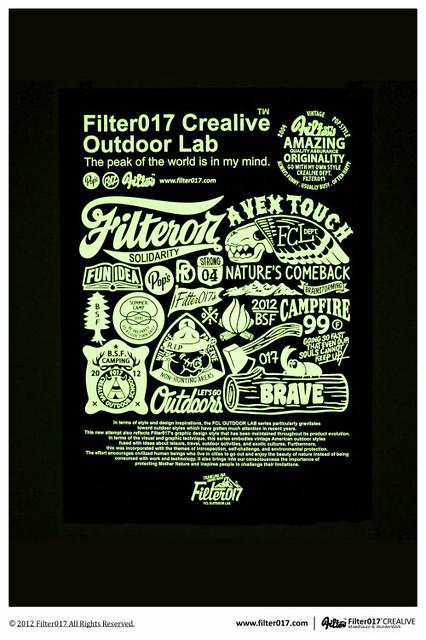 台灣設計團隊Filter017「FCL OUTDOOR LAB」限量網版畫作