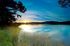 Sunrise on Loch Ard (PeterYoung1.) Tags: blue autumn nature sunrise reflections landscape scotland scenic atmospheric ard lochard kinlochard