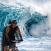wave wall & cyclist