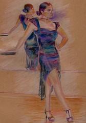 Spanish Dancer (greatartist) Tags: woman color colour art colors beautiful beauty lady colored coloredpencils coloured flamenco coloredpencil colorpencil colouredpencil coloured colored coloredpencil colouredpencil