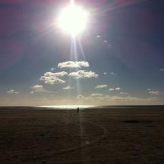 Sun over the clouds of Green Acres Beach, Porthmadog, Wales (Matt Burke) Tags: dog sun haven beach clouds walking high cloudporn porthmadog greenacrescaravanpark porthmadoggreenacrescaravanpark