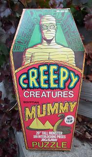 1975 Creepy Creatures Mummy Puzzle A