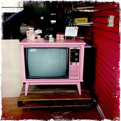 Pink Tv (swanksalot) Tags: pink chicago television tv chinatown noflash storefront iphone faved hipstamatic kodotxgrizzledfilm wattslens