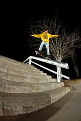 Àlex Villanueva - Crooked (EsteveSegura) Tags: barcelona street alex amazing spain board rail skate trick grind segura esteve villanueva barandilla streetboard grindar
