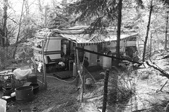 Roughing It - Project 365, Day 12 (Madeline Houston) Tags: bw homestead 365 trailer rv day12 9889 day12365 week2theme 3652013 365the2013edition 12jan13
