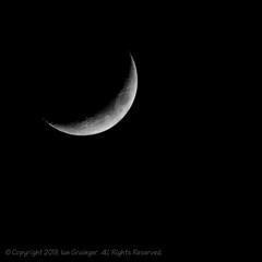 Crescent Moon (*ian*) Tags: sky moon black blackbackground night dark square evening satellite luna crescent crater favourite lunar isolated bigemrg mygearandme mygearandmepremium