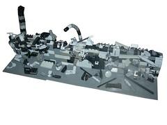 APOC MOC (Legomania.) Tags: light white black dark lego time gray first dio damage editing diorama edit apoc moc darkgray bley lightgray legomoc darkbley legodiorama lightbley legodio