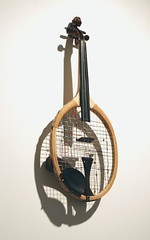 Play _ Tennis racket, Violin.
