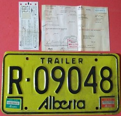 ALBERTA 1983 ---TRAILER LICENSE PLATE WITH REGISTRATION (woody1778a) Tags: world auto canada cars car sign vintage edmonton photos tag woody plate tags licenseplate collection number photographs license plates foreign numberplate licenseplates numberplates licenses cartag carplate carplates autotags cartags autotag foreigns pl8s worldplates worldplate foreignplates platetag