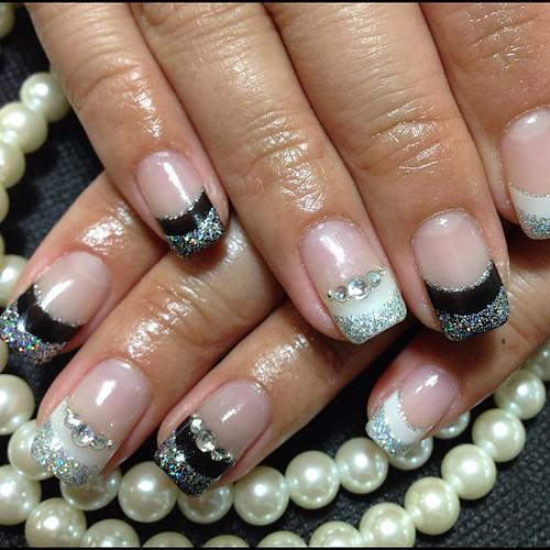 Black and white nail 5220yen XD