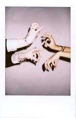 (carina allen) Tags: shadow studio polaroid hands body fingers rings curl portfolio instax