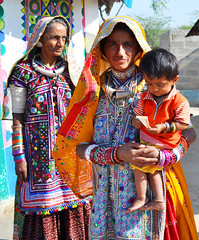 People of Kutch (kananj) Tags: bhirandiara bhirandiyara kutch gujarat banni kananj kutchi people woman women bride baby kid kananjani india kutchh village kutchhi gujarati girl child children