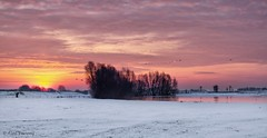 Sunrise ... (Alex Verweij) Tags: winter snow cold ice water sunrise canon river utrecht sneeuw januari lek rivier delek 2013 opkomst alexverweij mygearandme jan2013