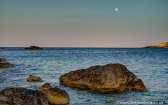 Hondoq Sundown & Moonrise (AnnieW69) Tags: seascapephotography hondoq astronomy mt hdr wwwanniewilcoxcouk scenery photomatix moonrise mediterranean moon 2016 anniew69 nikon sea comino photographytechnique animotogozo toload june moonlight hdri landscapephotography photography malita gozo seascape d7000 europe malta anniewilcox ecology ecosystem environmentalism highdynamicrange nature