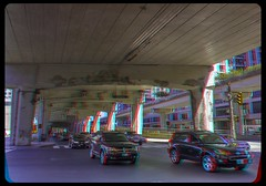 Underneath the Gardiner Expressway 3-D ::: HDR/Raw Anaglyph Stereoscopy (Stereotron) Tags: toronto to tdot hogtown thequeencity thebigsmoke torontonian downtown financialdistrict streetphotography urban citylife architecture north america canada province ontario anaglyph anaglyph3d redcyan redgreen optimized anaglyphic anabuilder 3d 3dphoto 3dstereo 3rddimension spatial stereo stereo3d stereophoto stereophotography stereoscopic stereoscopy stereotron threedimensional stereoview stereophotomaker stereophotograph 3dpicture 3dglasses 3dimage twin canon eos 550d yongnuo radio transmitter remote control synchron in synch kitlens 1855mm tonemapping hdr hdri raw cr2