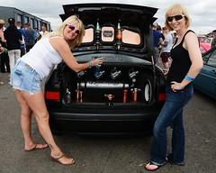 Di & Kate_8174 (Fast an' Bulbous) Tags: girl girls woman women blonde hot sexy vw volkswagen bugjam showshine show santa pod nikon d7100 gimp people outdoor