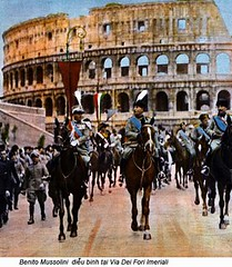 42-16963734 (ngao5) Tags: adults amphitheater armedforces benitomussolini celio colosseum dictator europe europeans fascism fascist fascistparty government governmentofficial group handcoloredphotographicprint horse italians italy landmark lazio leader males mammal manipulatedphotography men middleaged middleagedman military militaryleader militaryofficer militaryparade militarypersonnel militia miliziavoluntariaperlasicurezzanazionale openairtheater parade people politicalleader politicalparties politicalparty prominentpersons romaprovince rome theater whites
