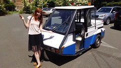 Ellena in Go-4 (6) (Handsomejimfrommaryland) Tags: seattle washington go4 interceptor unofficial car vehicle motorcycle auction meter reader parking enforcement fremont police 1996 nude bikini blonde norwegian rainbow republic trike three wheeler scooter moped