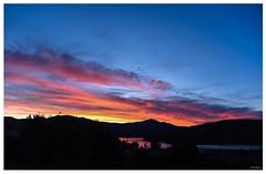 Sunset over Akaroa Harbour (Jocey K) Tags: sunset akaora akaroaharbour sky clouds scene reflections hills bankpeninsula canterbury