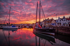 reaper (blairmchattiephotography) Tags: reaper boat reflections outdoor sunset nikon d7000 scotland fife anstruther red tokina landscape uk