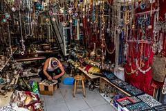 Jewelry at Shuk Hapishpeshim (Nicolas Willemin) Tags: crew israel jaffa layover nightstop telaviv jewelry handmade shuk shukhapishpeshim hapishpeshim man oldman artisanal orient shop market inexplore explore