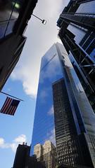 Looking Up: Reflection of the Sky (Billy K. Chen) Tags: nyc newyork newyorkcity manhattan lowermanhattan worldtradecenter wtc skycrapers reflection