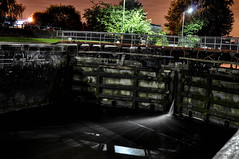leaky locks (ishoot_pixels) Tags: latchfordlocks manchestershipcanal water flowingwater canal